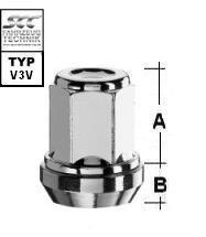 Versatzmuttern zur Lochkreisadaption - KE 60° M12x1.25