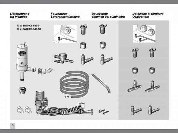 Scheinwerfer Reinigungs Anlage (SWRA) Xenon Nachrüst-Kit