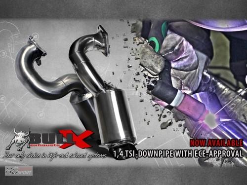Downpipe BULL-X mit EWG für Fzge. ohne Kompressor - 1.4 TFSI Audi Q2 Q3